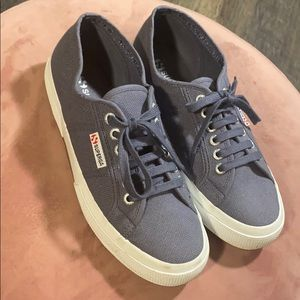Superga Slate Blue Canvas Sneakers